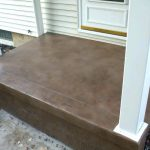 Concrete Stain Porch Bronze Colored Stained Sidewalk