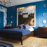Cool Blue Bedroom Wall Paint Ideas Wood Bed Furniture Beautiful