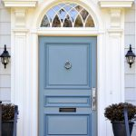 Cool Blue Front Doors Residential
