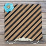 Cork Board Painted Black Stripes Flower