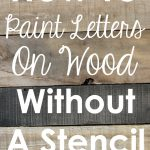 Craftaholics Anonymous Paint Letters Wood Without