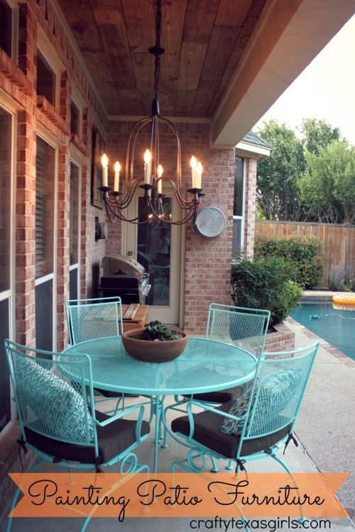 Crafty Texas Girls Painted Patio