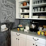 Create Chalkboard Kitchen Backsplash