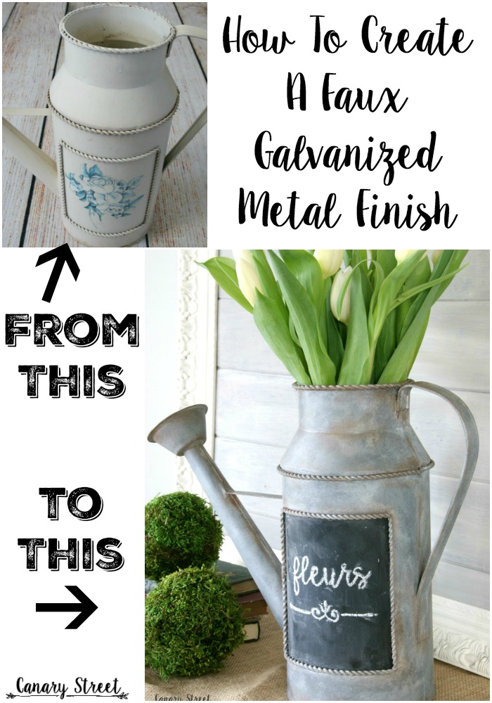 Create Faux Galvanized Metal Finish Canary Street