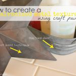 Create Galvanized Metal Texture Using Craft Paint Grace Filled