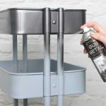 Create Metallic Gun Metal Stationery Cart Rustoleum Spray