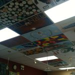 Creative Painted Ceiling Tiles