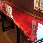 Crystal Clear Bar Table Top Epoxy Resin Coating Wood Tabletop Gallon Kit