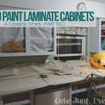 Cute Junk Made Paint Laminate Cabinets Part Two Sanding Priming