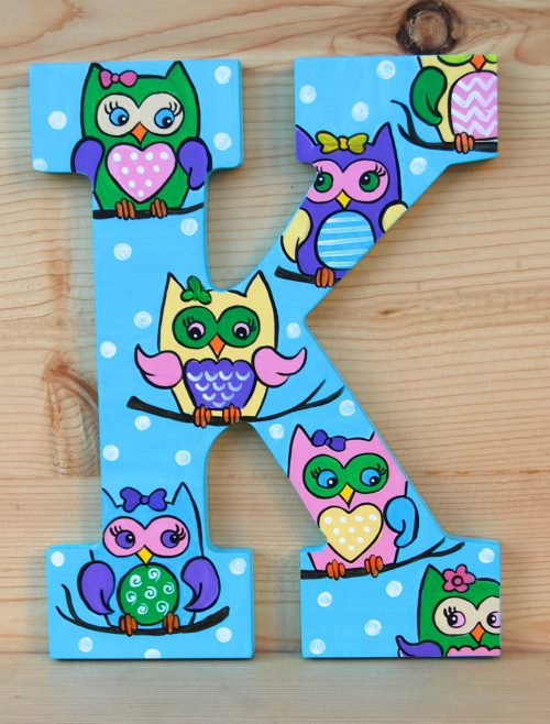 Cute Owls Hand Painted Wooden S Price Per