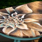 Dahlia Dining Table Easy Wood Stain Art Reality