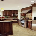 Dark Cherry Wood Cabinets Kitchen Color Ideas