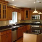 Dark Cream Wall Paint Colors Small Kitchens Brown Cabinet Home Interior