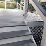 Deck Makeover Sherwin Williams Flagstone Solid Stain Cables Were Added