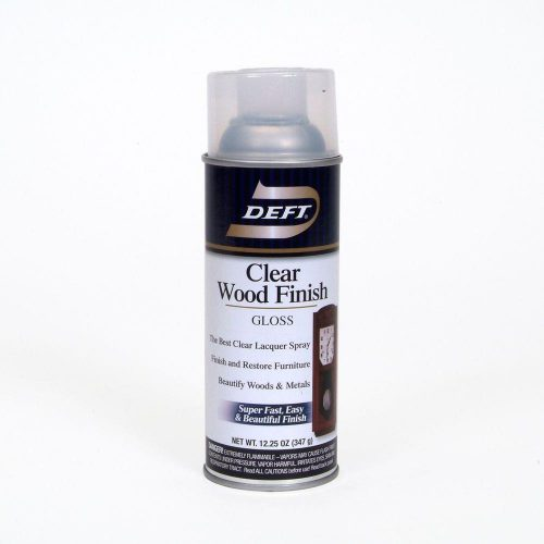 Deft Aerosol Gloss Interior Clear Wood Finish Lacquer Home