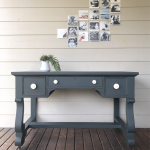 Desk Slate Gray Chalk Style Paint General Finishes Design