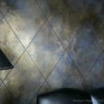 Diamond Pattern Walls Furniture Modern Masters Cafe