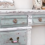 Distressed Chalk Paint Desk Makeover Nest