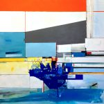 Diving Board Amelia Wood Painting