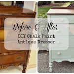 Diy Chalk Paint Antique Dresser Gray Table