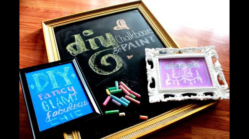 Diy Chalkboard Colored Paint