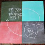 Diy Chalkboard Paint Tutorial