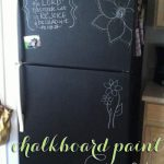 Diy Chalkboard Painting Your Refrigerator