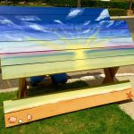 Diy Custom Painted Picnic Table Home Depot