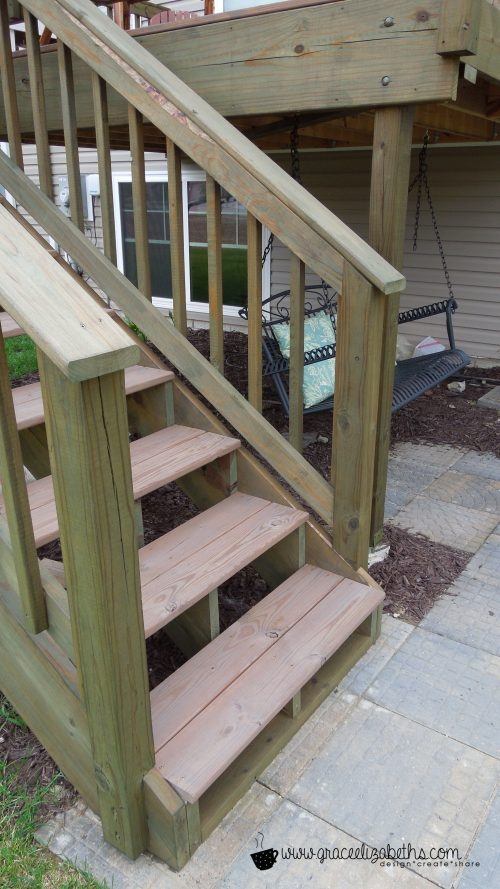 Diy Deck Staining Color Wood Tone Grace