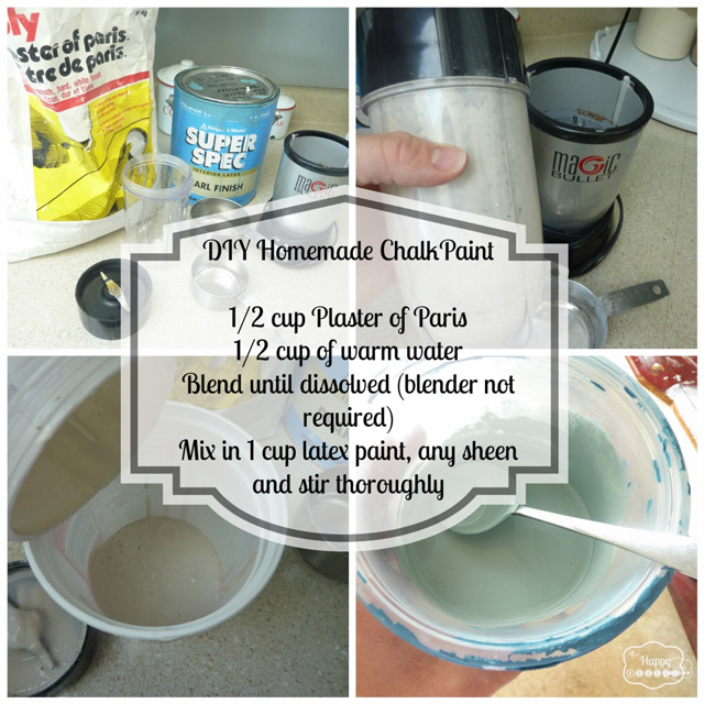 Diy Homemade Chalk Based Paint Project