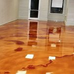 Diy Metallic Epoxy Garage Floor Wooden