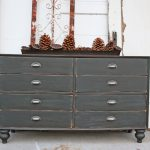 Diy Old Wood Dresser Makeover Made Reclaimed Drawer Painted Gray
