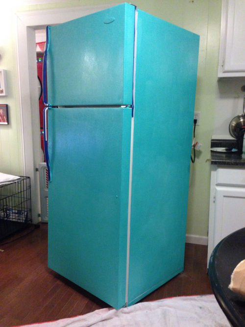 Diy Painted Refrigerator Cozy Crooked