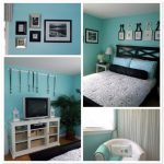 Diy Projects Decorating Tween Room Ideas Blue Wall Paint Black Headboard Wooden