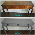 Diy Spray Painted Console Table Furniture Paint Grateful