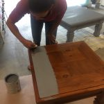 Diy Table Ottoman Paint Furniture Without Sanding Easy Peasy