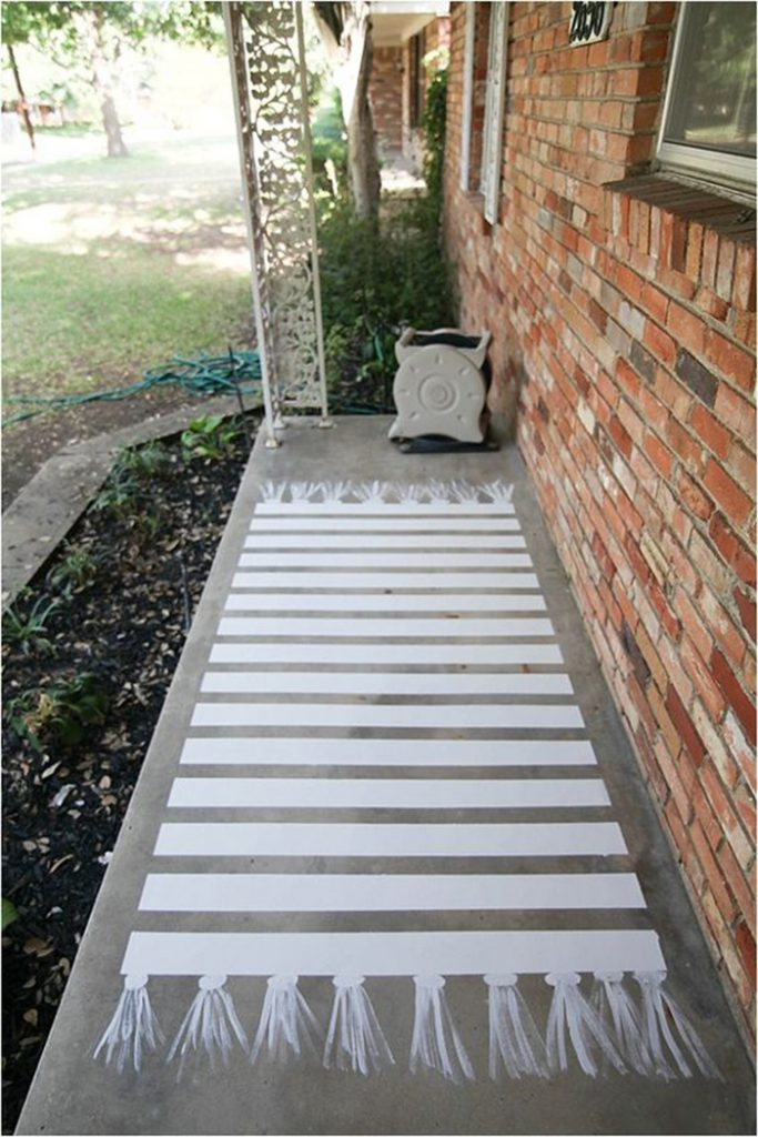 Diy Try Painted Front Porch Floor Ohoh