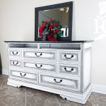 Dresser Upcycle Painted Annie Sloan Chalk Paint Pure White Clear Wax