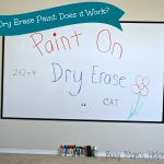 Dry Erase Paint Does Work Two Projects Busy Moms