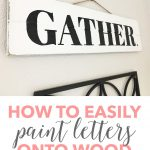 Easily Paint Letters Onto Wood Heart Filled Home Diy Decorating Money