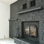 Easily Paint Stone Fireplace Charcoal Grey Makeover Dans