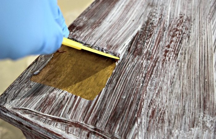Easily Remove Paint Varnish Old Furniture Our Home Made