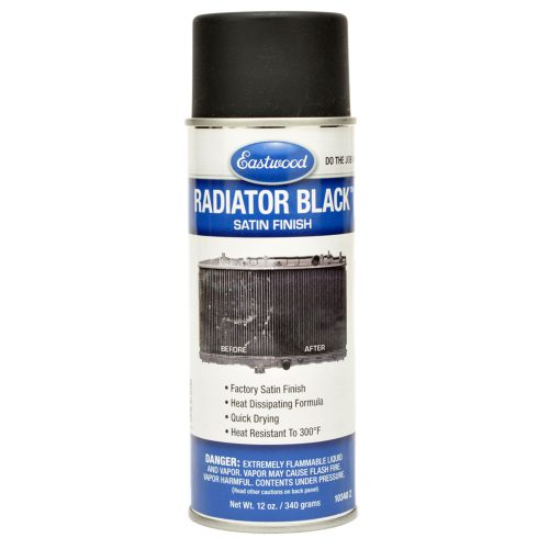 Eastwood Aerosol Radiator Black Satin Spray Can Paint Intercooler Oil Cooler