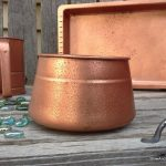 Easy Faux Hammered Copper Paint Technique Stow