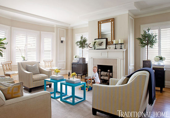 Elegant Living Rooms Neutral Colors Traditional