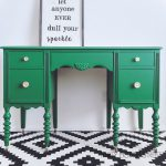Emerald Green Painted Desk Makeover Thirty Eighth