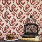 Ethnic Ikat Damask Stencil Pattern Walls Furniture Stenciling Royal Design Studio