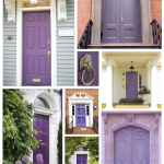 Exterior Color Inspirations Regal Dramatic Purple Painted Door House