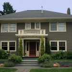 Exterior Paint Colors House Green Roof