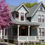 Exterior Painted Homes House Paint Colors Green Roof Color